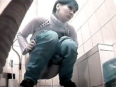 3 movies - Raunchy hottie urinates onto spy cam in public loo
